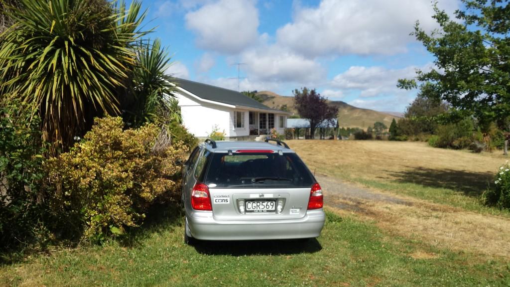 WWOOFing_Neuseeland_Haus+Auto