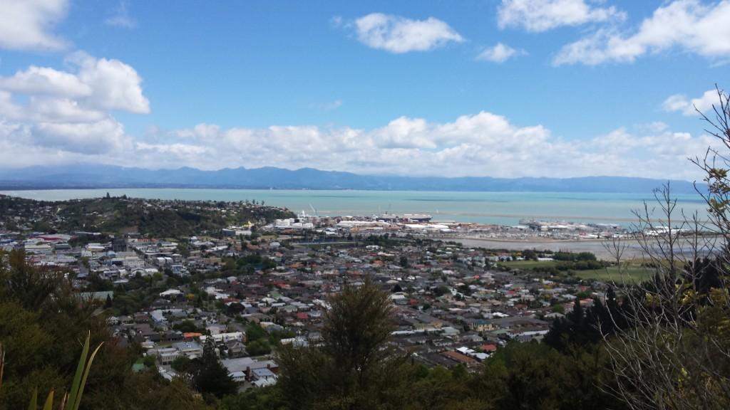 Blick vom Centre of Neuseeland